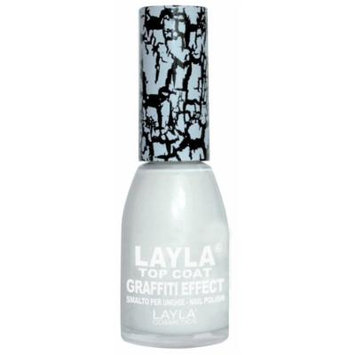 Layla Cosmetics Graffiti Top Coat N.1 White Nail Polish