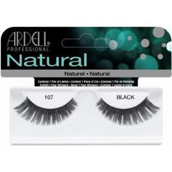 Ardell Fashion Lashes False Eyelashes - #107 Black (Pack of 4) by Ardell