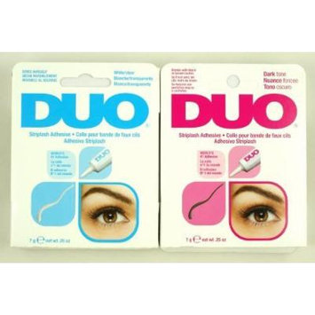 2 DUO Eyelash Adhesive (Glue) - 'White/dark Set '