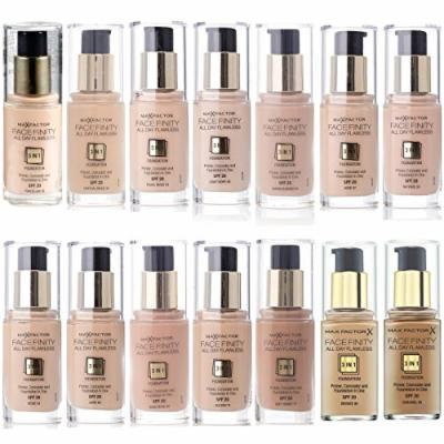 MAX FACTOR 3 in 1 Facefinity Face Foundation Make Up, Over 10 Different Cosmetic Shades Poducts To Choose From - (1 PACK, Light Ivory 40) by Max Factor