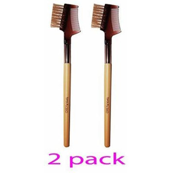 Beauty 360 Bamboo Dual-Ended Brow Lash Comb/Angled Liner Brush by Beauty 360