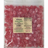 Claeys Sanded Raspberry Candy Drops - 4 lbs.