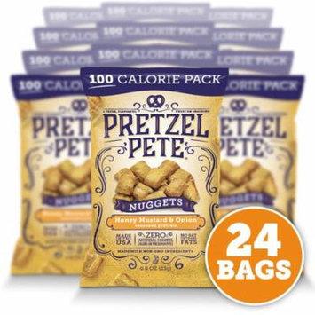 Pretzel Pete Pretzel Nuggets, 100 Calorie Pack, Honey Mustard Onion, .8 Oz, Pack of 24