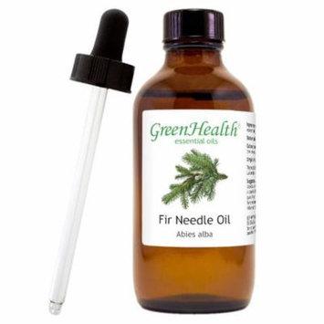 Fir Needle Essential Oil - 4 fl oz (118 ml) Glass Bottle w/ Cap and Glass Dropper - 100% Pure Essential Oil by GreenHealth