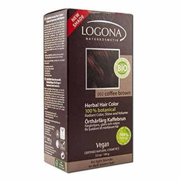 Lagona Herbal Hair Color, Coffee Brown 092, 3.5 Ounce