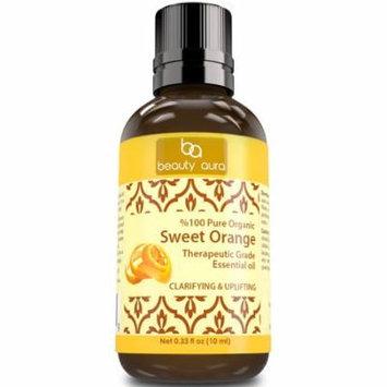 Beauty Aura Sweet Orange essential oil 0.33Oz 10ml