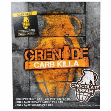 Grenade, Carb Killa, High Protein Bar, Chocolate Cream, 12 Bars, 2.12 oz (60 g) Each(pack of 1)