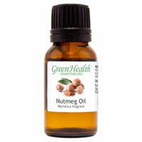 Nutmeg Essential Oil - 1/2 fl oz (15 ml) Glass Bottle w/ Euro Dropper - 100% Pure Essential Oil by GreenHealth