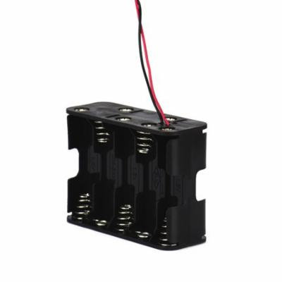 Womail New 1Pcs 10 AA 2A Battery 15V Clip Holder Box Case Storage with Wire Leads Black