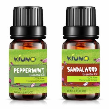 Sandalwood Peppermint Essential Oil - Top 2 Pure Therapeutic Grade Aromatherapy Oils