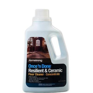 Armstrong Once 'N Done No-Rinse Floor Cleaner Concentrate, 64 Oz (S-338)