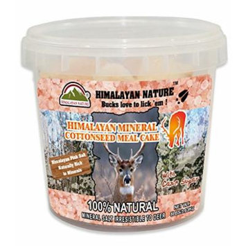 HIMALAYAN NATURE 5457HD-1 Natural Pink Rock Salt Deer Mineral Chunks (6-8LBS),Deer Love To Lick 'EM!