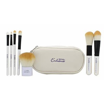 Royal Cosmetics Enhance Cosmetic Brush Pouch Gift Set 7 Brushes + Pouch