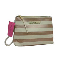 Betsey Johnson Cosmetic T-Bottom Metallic Cosmo Pouch