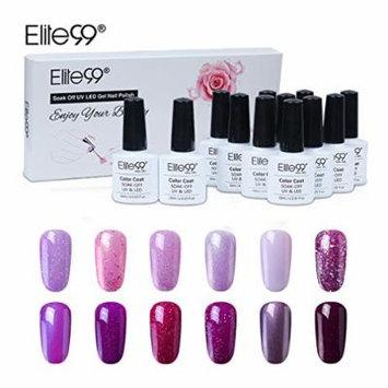 Elite99 Gel Nail Polish Set Soak off UV LED Nail Art Manicure Kit C008 + 50pcs Gel Remover Wraps