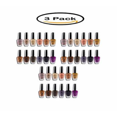 PACK OF 3 - SHANY Earth Collection Nail Polish Set, 12 count