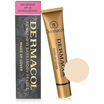Dermacol Make-up Cover - Waterproof Hypoallergenic Foundation 30g 100% Original Guaranteed (BUY 3 AND GET 15ml SATIN MAKEUP BASE FREE) (208)