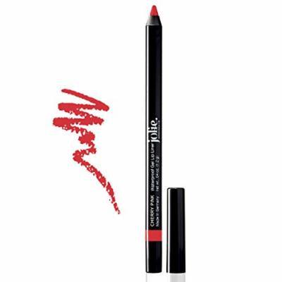Jolie Cosmetics Waterproof Gel Lip Liner - Super Smooth, Extra Long-Wear (Cherry Pink)