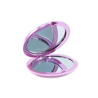 Glam & Beauty Compact Mirror, Pink, 2-Pack