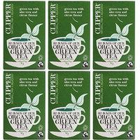 (6 PACK) - Clipper - Organic Green Tea Aloe Vera | 20 Bag | 6 PACK BUNDLE