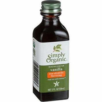 Simply Organic Vanilla Flavoring - Organic - 2 oz - Case of 6 - 95%+ Organic - Gluten Free - Yeast Free - Vegan