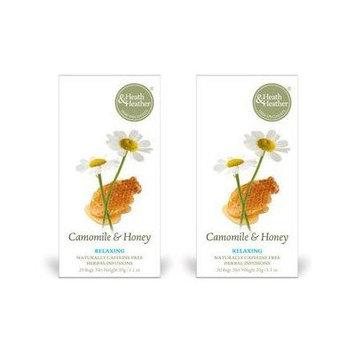 (2 Pack) - Heath And Heather - Camomile Honey Tea | 20 Bag | 2 PACK BUNDLE by HEATH & HEATHER