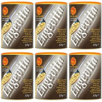 (6 PACK) - Marigold - Engevita Yeast Flakes & B12 | 125g | 6 PACK BUNDLE