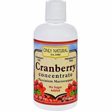 Only Natural Juice Concentrate - Organic - Cranberry - 32 oz-95%+ Organic-Gluten Free-Dairy Free-Yeast Free-Wheat Free-