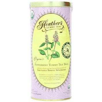 Tummy Teas, Peppermint Tea Bags, Organic, Caffeine Free, 36 Extra Large Tea Bags by Heather's Tummy Care