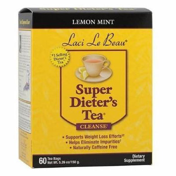 Laci Le Beau Super Dieter's Cleanse Tea Bags, Lemon Mint 60 ea (Pack of 4) by Laci Le Beau