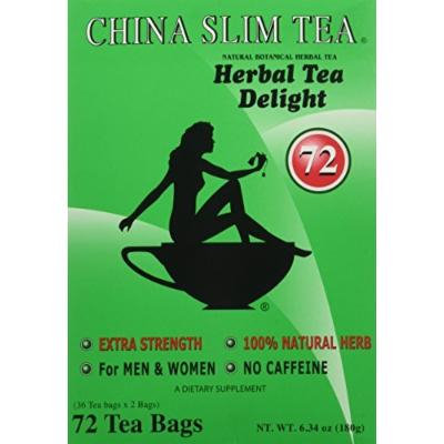 China Slim Tea Extra Strength For Men and Women 72 Tea Bags by China Slim