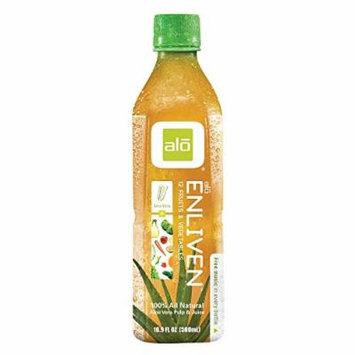 Alo Original Enliven Aloe Vera Juice Drink - 12 Fruits And Vegetables - Case of 12 - 16.9 fl oz.
