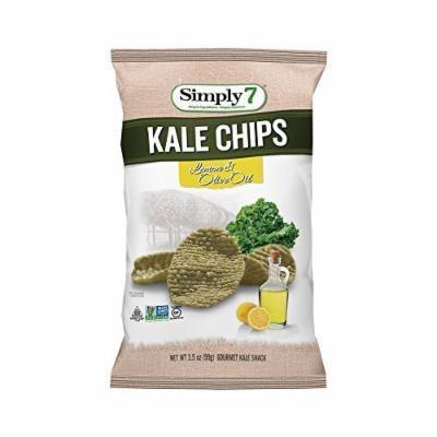 Simply 7 Chips,Kale,Lemon Olive Oil 3.5 Oz (Pack Of 12)