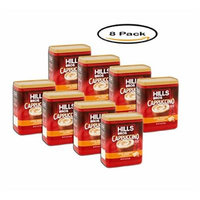 PACK OF 8 - Hills Bros. Cappuccino White Chocolate Caramel Café Style Drink Mix, 16 oz
