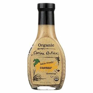 Cucina Antica Organic Caesar Dressing - Case of 6 - 8 FL oz.