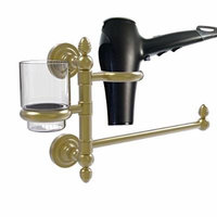 Allld|#Allied Brass DT-GTBD-1-SBR Dottingham Collection Hair Dryer Holder and Organizer,