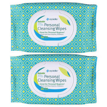 Epielle Personal Cleansing Wipes-36ct (2 Pack)