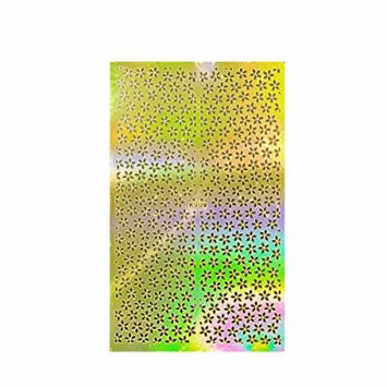 Wrapables Golden Stencil Sheet, Nail Art Guide, Floral 1 1