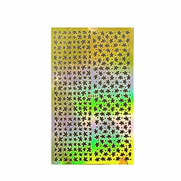 Wrapables Golden Stencil Sheet, Nail Art Guide, Floral 4 4