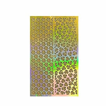 Wrapables Golden Stencil Sheet, Nail Art Guide, Floral 3 3