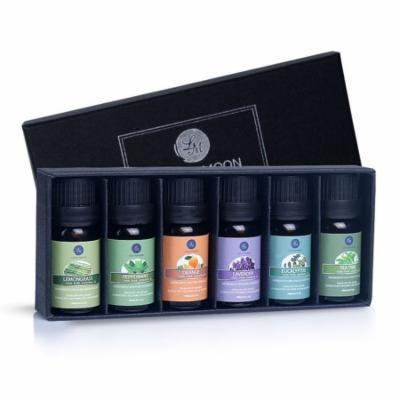 Essential Oils Gift Set,Top 6 Aromatherapy Oils Orange Lavender Tea Tree Peppermint Eucalyptus Lemongrass