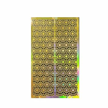 Wrapables Golden Stencil Sheet, Nail Art Guide, Floral Bubble