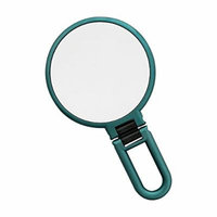 Danielle Soft Touch 10X Magnification Metallic Hand Held Mirror, Emerald Green