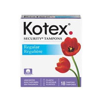 KIMBERLY CLARK Regular Kotex Brand Tampons 18pack
