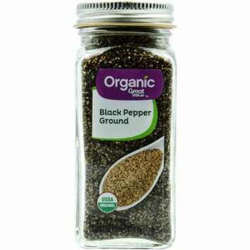 Great Value Organic Ground Black Pepper, 1.9 oz