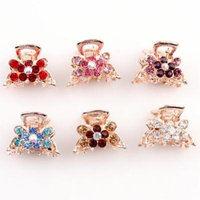 Hair Claw Clips, Coxeer 6-Piece Women's No Slip Crystal Grip Jaw Clips Hair Claw with Rhinestones for Women Girls