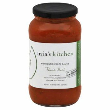Mia's kitchen tomato basil authentic pasta sauce, 25.5 oz, (pack of 6)