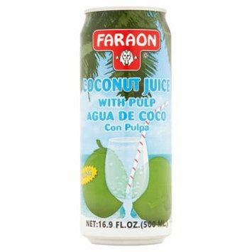 Faraon Young Coconut Juice with Pulp 16.9 fl. oz.