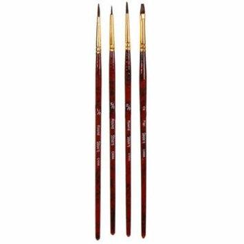 Darice Studio 71 - Natural Hair Brush Set - 4pcs