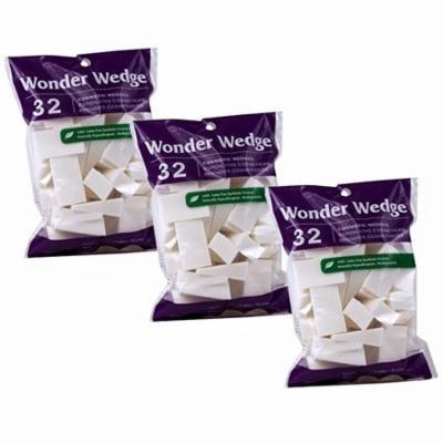 Wonder Wdege Cosmetic Wedges 32 ea (Pack of 3)